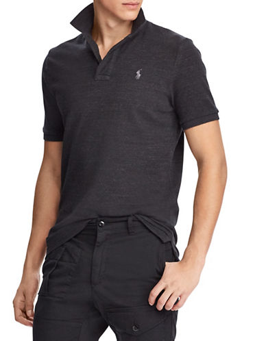 Polo Ralph Lauren Big and Tall Classic Fit Mesh Polo Shirt-BLACK-Large Tall