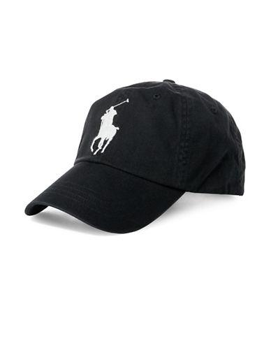 Polo Ralph Lauren Classic Chino Cotton Sports Cap-BLACK-One Size