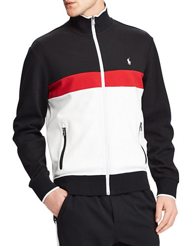 Polo Ralph Lauren Interlock Cotton Track Jacket-BLACK-Small 89881129_BLACK_Small