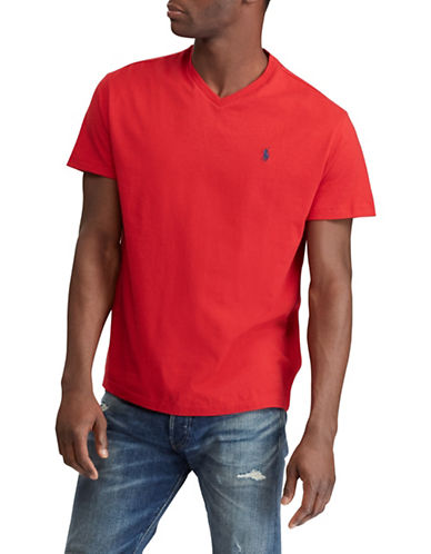 Polo Ralph Lauren Classic Fit Cotton T-Shirt-RED-Medium 89915495_RED_Medium