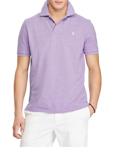 Polo Ralph Lauren Classic-Fit Mesh Cotton Polo-PURPLE-Small