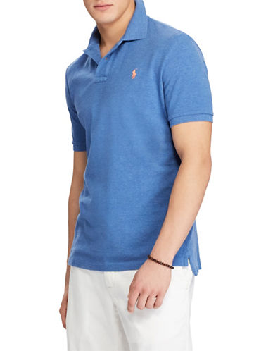 Polo Ralph Lauren Custom Slim-Fit Mesh Cotton Polo-BLUE-XX-Large