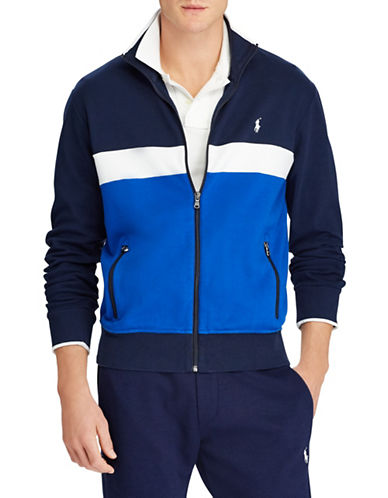 Polo Ralph Lauren Interlock Cotton Track Jacket-NAVY-Medium