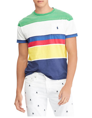 Polo Ralph Lauren Classic-Fit Striped Cotton T-Shirt-GREEN-Small 90001888_GREEN_Small