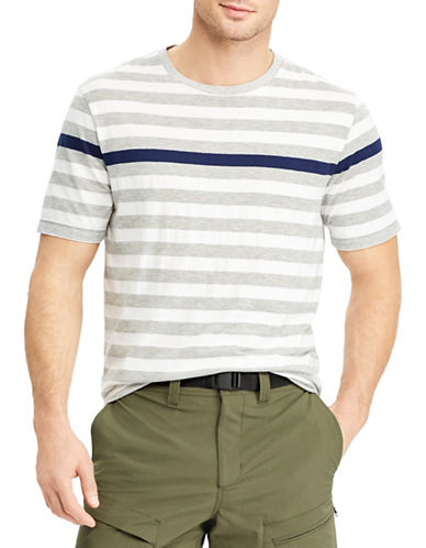 Chaps Engineered-Striped Cotton T-Shirt-GREY-X-Large 89853738_GREY_X-Large