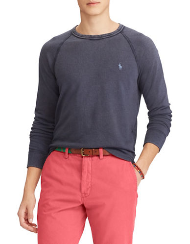 Polo Ralph Lauren Spa Terry Cotton Sweatshirt-NAVY-Medium