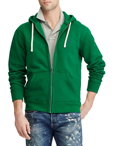 Polo Ralph Lauren Logo Fleece Hoodie-GREEN-Large