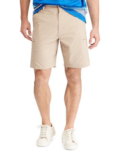 Chaps Big and Tall Performance Cargo Shorts-BEIGE-44 Big
