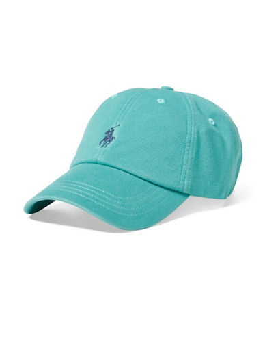 Polo Ralph Lauren Pique Cotton Baseball Cap-GREEN-One Size