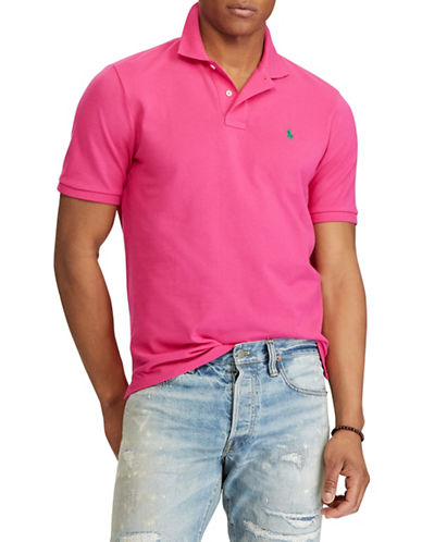 Polo Ralph Lauren Custom Slim-Fit Cotton Mesh Polo-PINK-Small