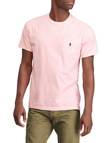 Polo Ralph Lauren Classic-Fit Short-Sleeve Cotton T-Shirt-PINK-Large 89953212_PINK_Large