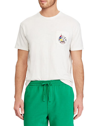 Polo Ralph Lauren Classic-Fit Crew Neck Cotton T-Shirt-WHITE-Large 90001892_WHITE_Large