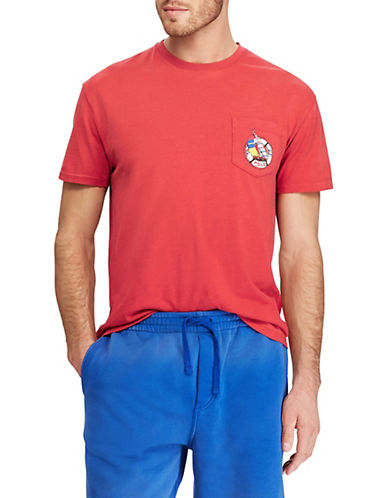 Polo Ralph Lauren Classic-Fit Crew Neck Cotton T-Shirt-RED-Small 90001901_RED_Small