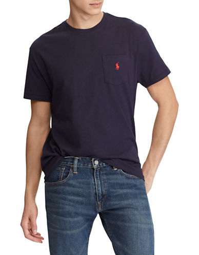 Polo Ralph Lauren Classic Fit Cotton T-Shirt-NAVY-Large 89915479_NAVY_Large
