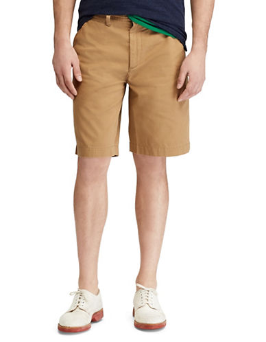 Polo Ralph Lauren Relaxed-Fit Twill Cotton Shorts-KHAKI-30