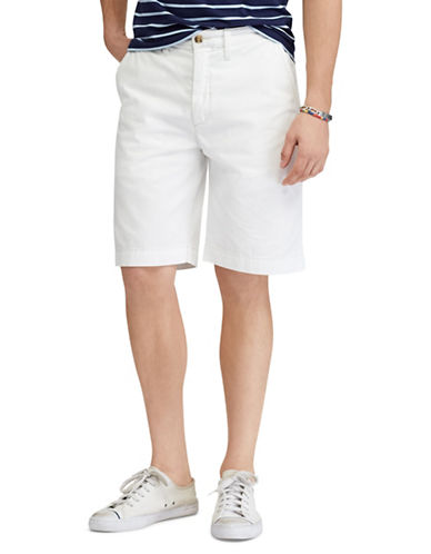 Polo Ralph Lauren Relaxed-Fit Twill Cotton Shorts-WHITE-36