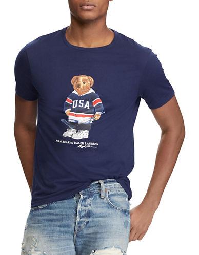 Polo Ralph Lauren Custom Slim-Fit Bear Tee-BLUE-XX-Large 89707685_BLUE_XX-Large