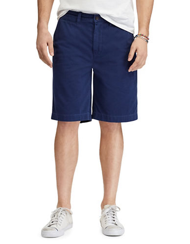 Polo Ralph Lauren Relaxed-Fit Twill Cotton Shorts-NAVY-36
