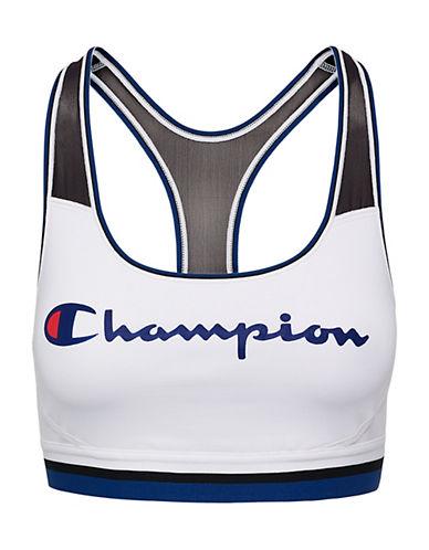 Champion The Absolute Mesh Graphic Sports Bra-WHITE-Small 90026429_WHITE_Small