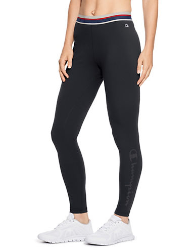 Champion Authentic Graphic Leggings-BLACK-Large 90026473_BLACK_Large