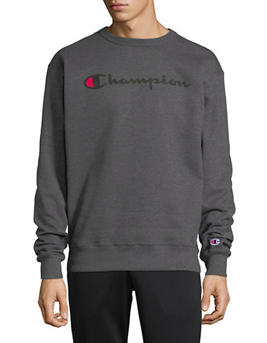Champion Fleece Graphic Sweatshirt-DARK GREY-Small 90025834_DARK GREY_Small