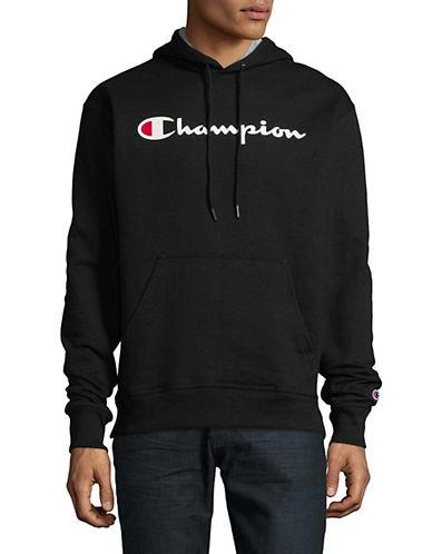 Champion Logo Long-Sleeve Hoodie-BLACK-Medium 90025845_BLACK_Medium