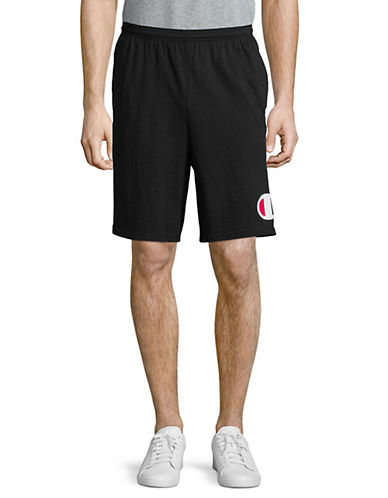 Champion Classic Cotton Jersey Shorts-BLACK-Small 90025889_BLACK_Small