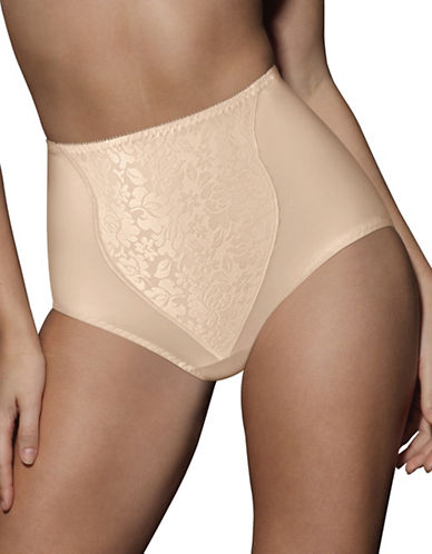 Bali Two-Pack Floral Control Briefs-TAUPE-Large