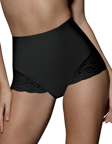 Bali Two-Pack Control Lace Briefs-BLACK-Medium