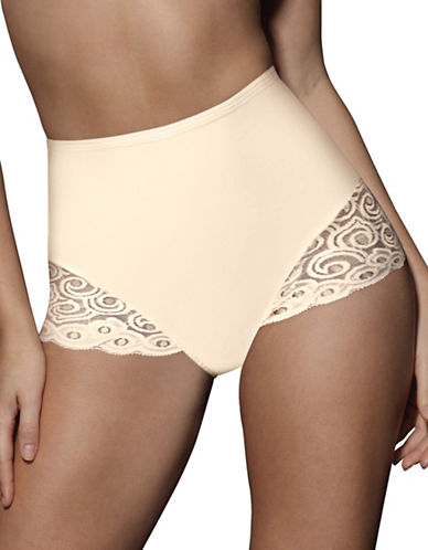 Bali Two-Pack Control Lace Briefs-BEIGE-XX-Large