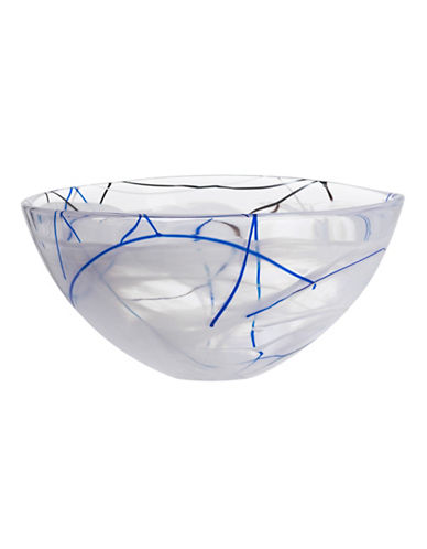Kosta Boda Large Contrast Glass Bowl-WHITE-One Size