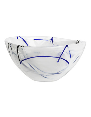 Kosta Boda Small Contrast Glass Bowl-WHITE-One Size