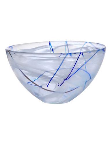 Kosta Boda Medium Contrast Glass Bowl-WHITE-One Size
