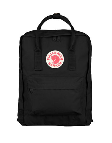 Fjallraven Kanken Logo Backpack-BLACK-One Size