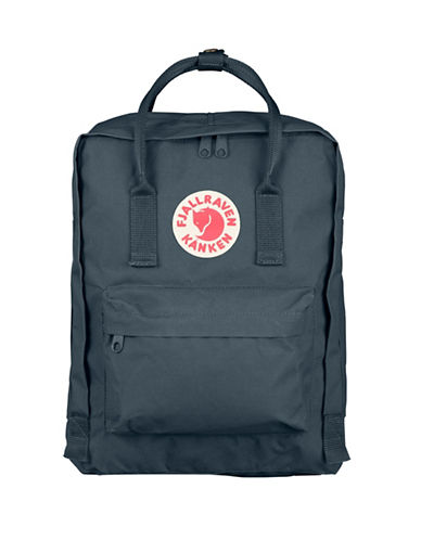 Fjallraven Kanken Logo Backpack-GRAPHITE-One Size