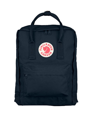 Fjallraven Kanken Logo Backpack-NAVY-One Size