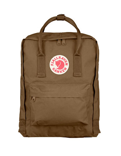 Fjallraven Kanken Logo Backpack-SAND-One Size