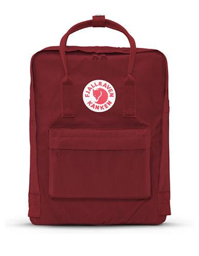 Fjallraven Kanken Logo Backpack-OX RED-One Size