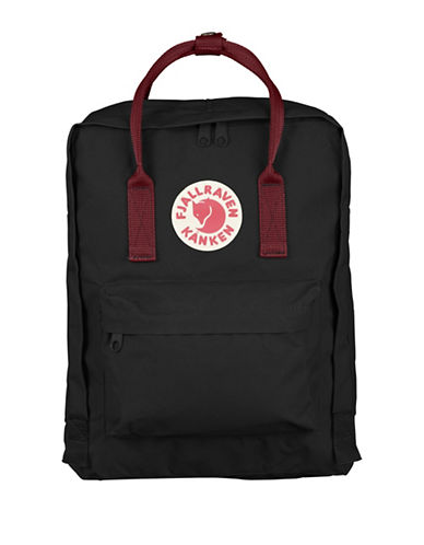Fjallraven Kanken Backpack-BLACK/RED-One Size