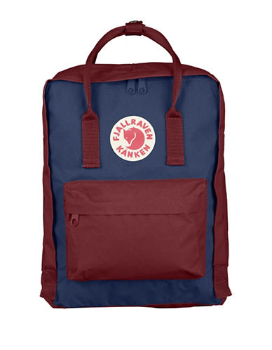 Fjallraven Kanken Backpack-BLUE/RED-One Size 88594608_BLUE/RED_One Size