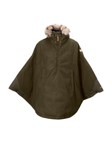 Fjallraven Luhkka Faux Fur Trim Hooded Cape 88681494