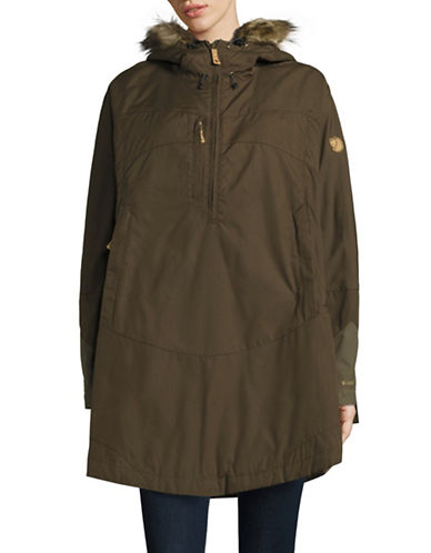 Fjallraven Luhkka Faux Fur Trim Hooded Cape 88148330