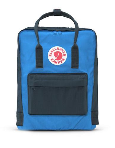 Fjallraven Kanken Logo Backpack-BLUE-One Size