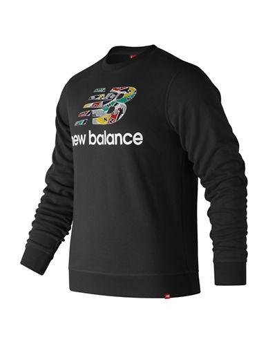 New Balance Essentials Crewneck Sweatshirt-BLACK-X-Large 89964904_BLACK_X-Large