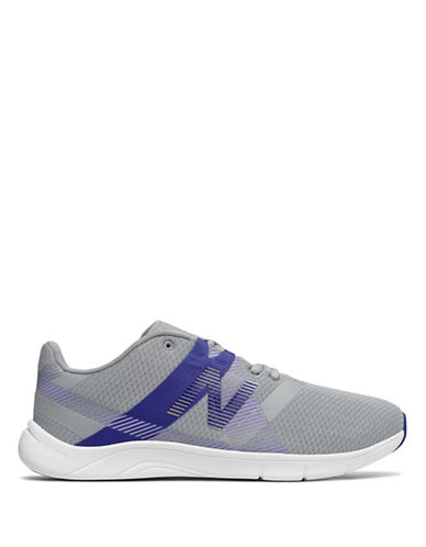 New Balance Womens Ribbed Slip-On Sneakers-GREY/BLUE-6.5