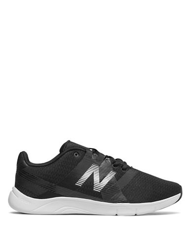 New Balance Womens Stripe Slip-On Sneakers-BLACK-9.5
