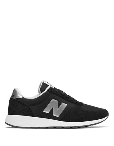 New Balance Womens 215 Sneaker-BLACK/SILVER-6.5
