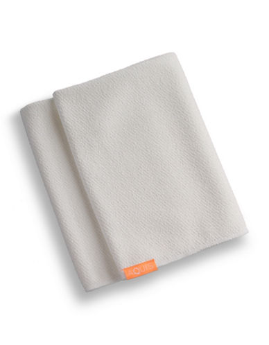 Aquis Lisse Luxe Essential Hair Towel-WHITE-One Size