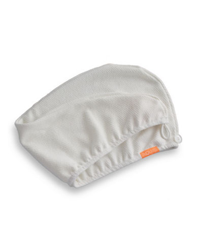 Aquis Lisse Luxe Essential Hair Turban-WHITE-One Size
