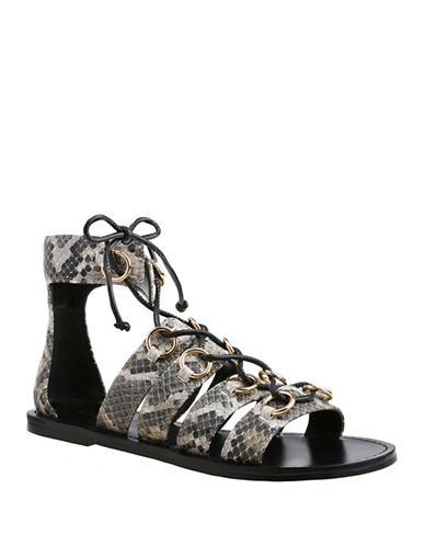 Nine West Gladiator Sandals-NATURAL-8.5